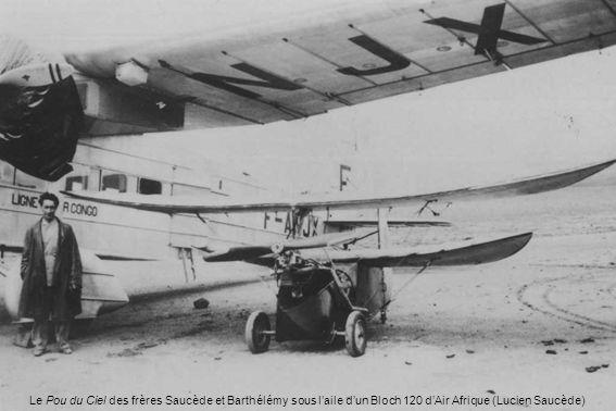 Le Pou du Ciel des frères Saucède et Barthélémy sous laile dun Bloch 120 dAir Afrique (Lucien Saucède)