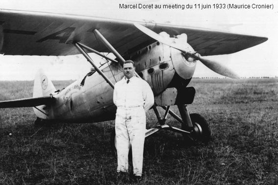 Marcel Doret au meeting du 11 juin 1933 (Maurice Cronier)