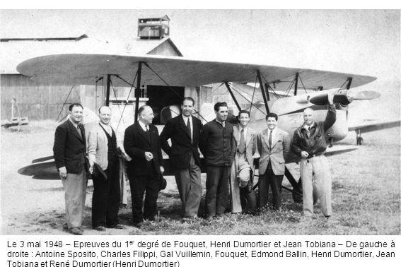 Le 3 mai 1948 – Epreuves du 1 er degré de Fouquet, Henri Dumortier et Jean Tobiana – De gauche à droite : Antoine Sposito, Charles Filippi, Gal Vuille
