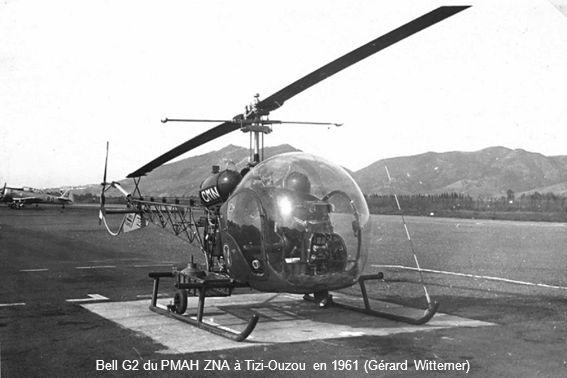 Bell G2 du PMAH ZNA à Tizi-Ouzou en 1961 (Gérard Wittemer)