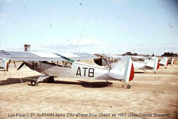 Les Piper L-21 du PMAH 4ème DIM àTiaret-Bou Chékif en 1961 (Jean-Claude Brouard)