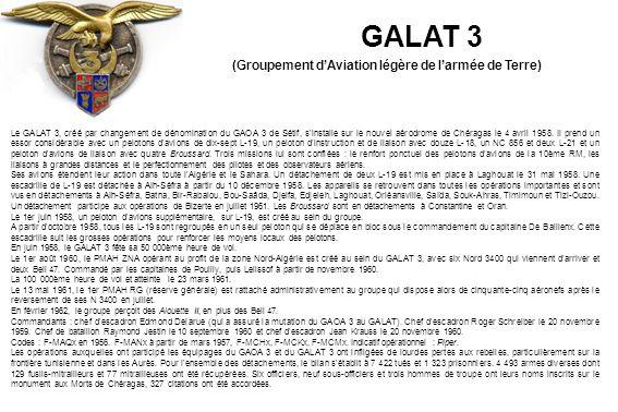 Les installations du GALAT 3 à Chéragas en 1960 (Marcel Vervoort)