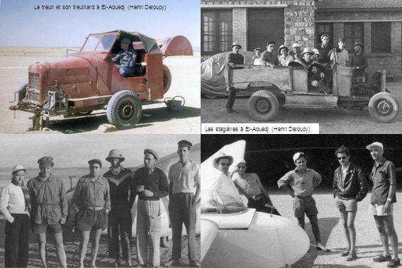 Les stagaires à El-Aouedj (Henri Deloupy) Le treuil et son treuillard à El-Aouedj (Henri Deloupy)