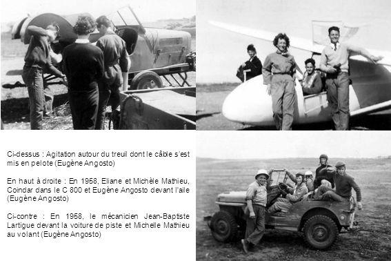 Ci-dessus : Agitation autour du treuil dont le câble sest mis en pelote (Eugène Angosto) En haut à droite : En 1958, Eliane et Michèle Mathieu, Coinda