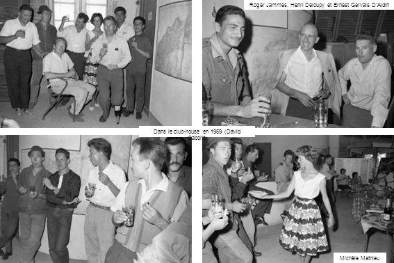 Roger Jammes, Henri Deloupy et Ernest Gervais DAldin Michèle Mathieu Dans le club-house en 1959 (David Gaborit)