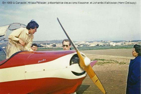 En 1959 à Canastel, Hrissa Pélissier, présentatrice des avions Wassmer, et Johanès Walkowiak (Henri Deloupy)