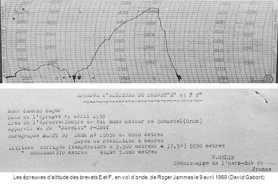 Les épreuves daltitude des brevets E et F, en vol donde, de Roger Jammes le 9 avril 1959 (David Gaborit)