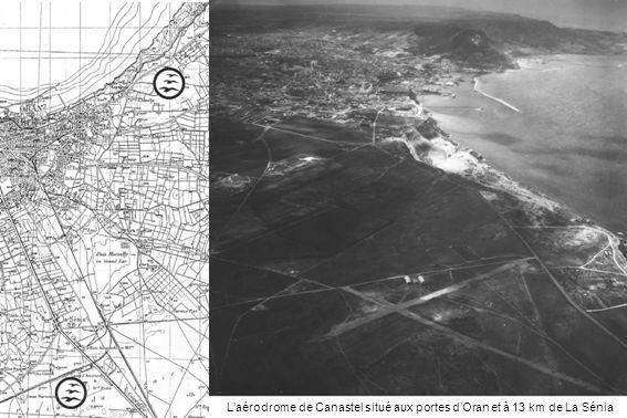 Canastel en 1958, un planeur est au seuil de la piste 02/20.