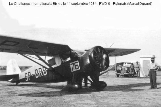 Le Challenge International à Biskra le 11 septembre 1934 - RWD 9 - Polonais (Marcel Durand)
