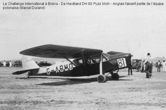 Le Challenge International à Biskra - De Havilland DH 80 Puss Moth - Anglais faisant partie de léquipe polonaise (Marcel Durand)