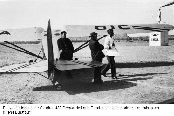Rallye du Hoggar - Le Caudron 480 Frégate de Louis Durafour qui transporte les commissaires (Pierre Durafour)