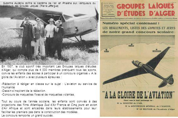 Lancer au treuil à Mascara en 1941 (Jean Mercier)