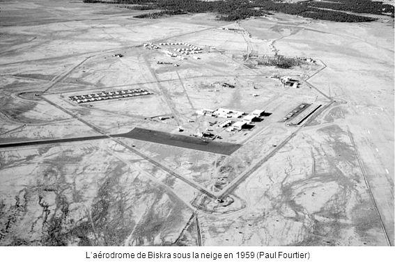 Laérodrome de Biskra sous la neige en 1959 (Paul Fourtier)