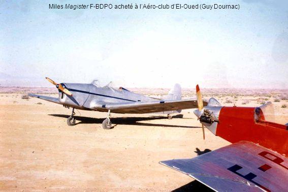 Miles Magister F-BDPO acheté à lAéro-club dEl-Oued (Guy Dournac)