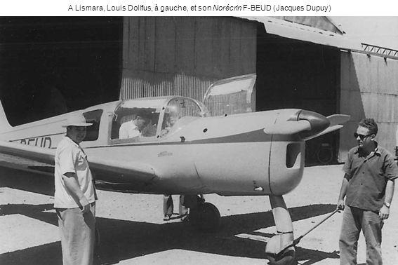 A Lismara, Louis Dollfus, à gauche, et son Norécrin F-BEUD (Jacques Dupuy)