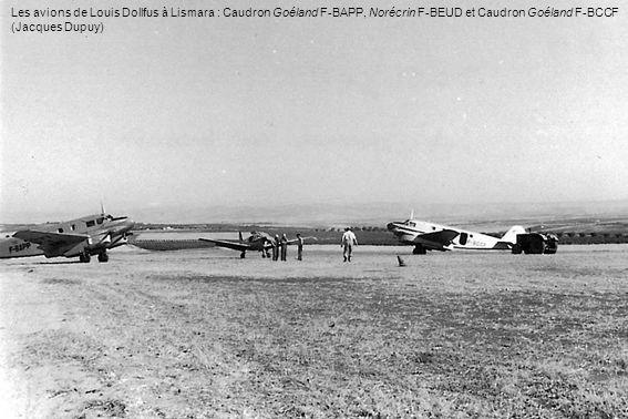 Les avions de Louis Dollfus à Lismara : Caudron Goéland F-BAPP, Norécrin F-BEUD et Caudron Goéland F-BCCF (Jacques Dupuy)