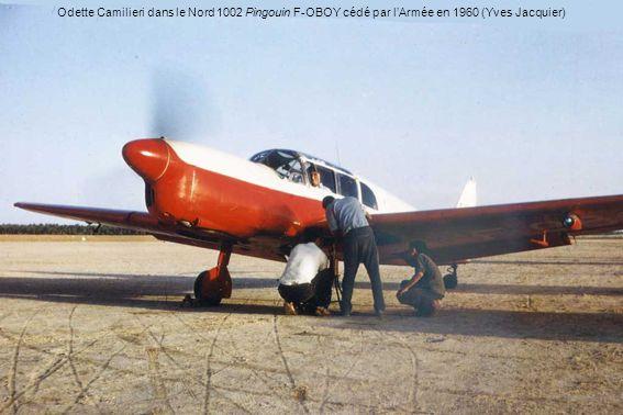 Odette Camilieri dans le Nord 1002 Pingouin F-OBOY cédé par lArmée en 1960 (Yves Jacquier)