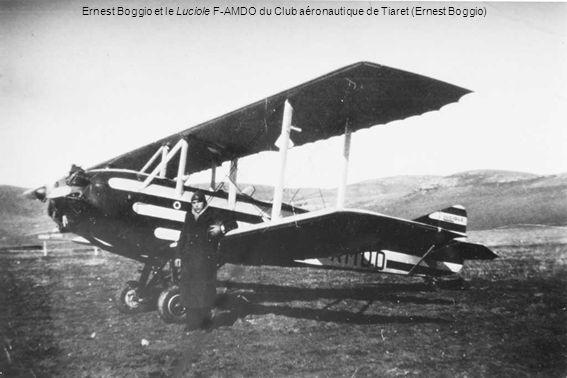 Ernest Boggio et le Luciole F-AMDO du Club aéronautique de Tiaret (Ernest Boggio)