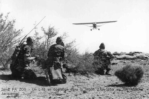 2ème PA ZOS - Un L-18 en opération dans la région dAïn-Séfra en 1961 (Michel Jacquemin)