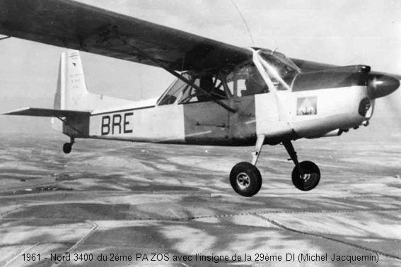 1961 - Nord 3400 du 2ème PA ZOS avec linsigne de la 29ème DI (Michel Jacquemin)