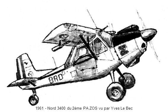 1961 - Nord 3400 du 2ème PA ZOS vu par Yves Le Bec