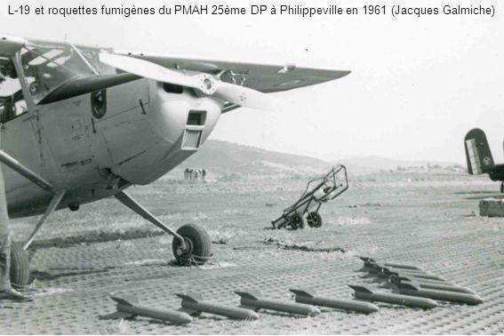 L-19 et roquettes fumigènes du PMAH 25ème DP à Philippeville en 1961 (Jacques Galmiche)