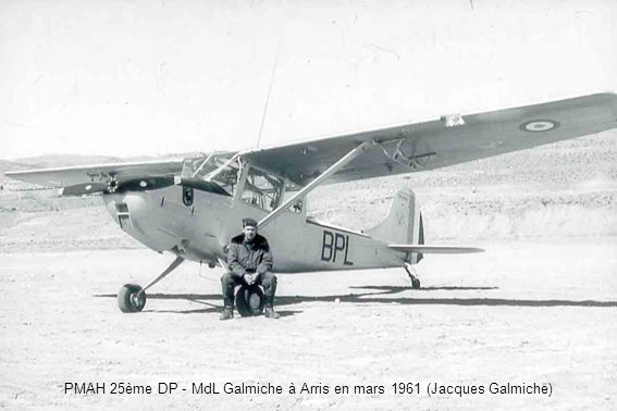 PMAH 25ème DP - Le 5 avril 1961 - Décollage à Bouzina en L-19, vers une opération, de léquipage Lt Heitz et MdL Lavie - 1 heure et demie plus tard, les deux occupants seront gravement blessé dans un accident (Jean-Marc Lavie)