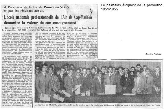 Le palmarès éloquent de la promotion 1951/1955 (Camille Anglada)