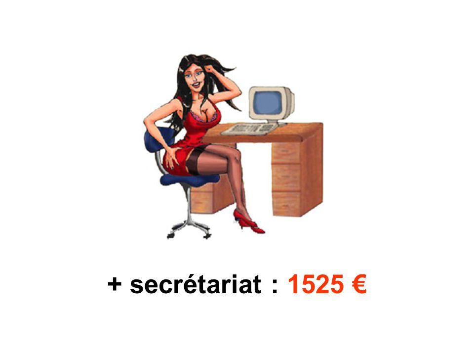 + secrétariat : 1525