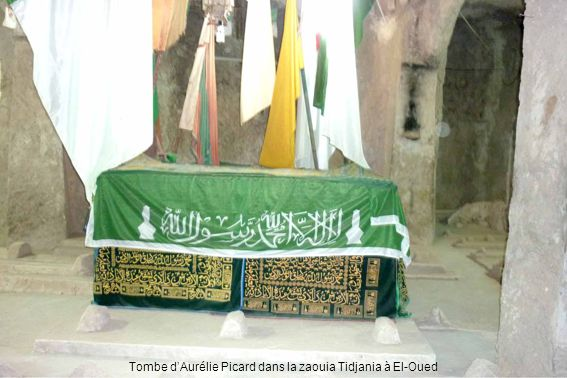 Tombe dAurélie Picard dans la zaouia Tidjania à El-Oued
