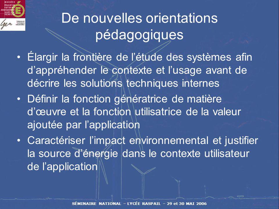 SÉMINAIRE NATIONAL – LYCÉE RASPAIL – 29 et 30 MAI 2006 De nouveaux concepts Développement durable pour le XXIème siècle par utilisation équitable, tem