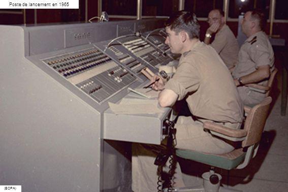 Poste de lancement en 1965 (ECPA)