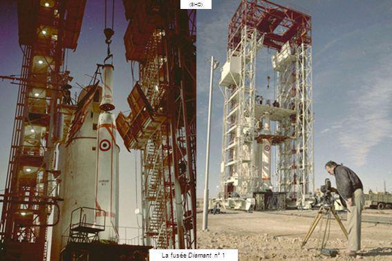 (ECPA) 25 novembre 1965 – Pas de tir Brigitte, lanceur Diamant, satellite Asterix La fusée Vesta est conçue en 1962 par le Laboratoire de recherche de larmée de Terre(LRBA) spécialisé dans le développement des fusées à propulsion par carburant liquide.