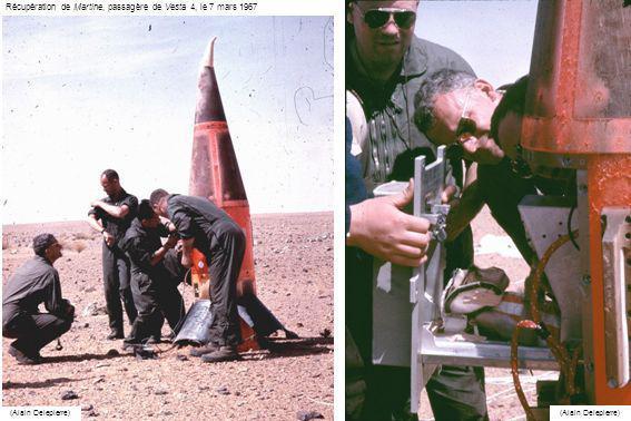 Lancement de Vesta 5, transportant Pierrette, le 13 mars 1967 (ECPA)