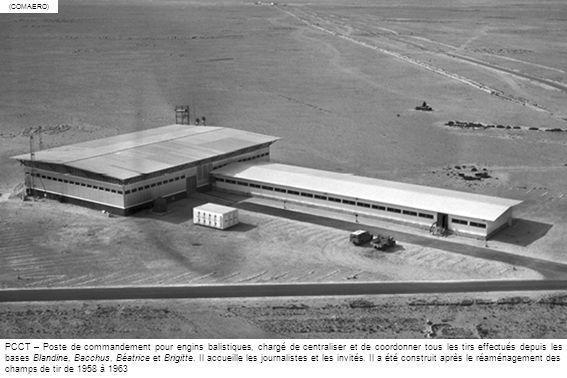 1961 – La base Bacchus à Hammaguir, opérationnelle en 1960, d où sont tirés les fusées-sondes à propergols solides Bélier, Centaure et Dragon de Sud-Aviation, quelques engins VE-10 Aigle de la SEREB et quelques engins à poudre de lONERA.