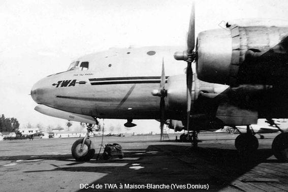 DC-4 de TWA à Maison-Blanche (Yves Donius)