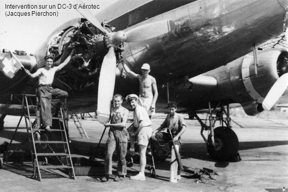Intervention sur un DC-3 dAérotec (Jacques Pierchon)