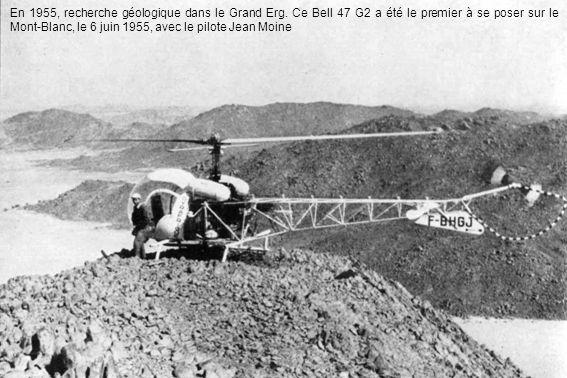 En 1955, recherche géologique dans le Grand Erg.