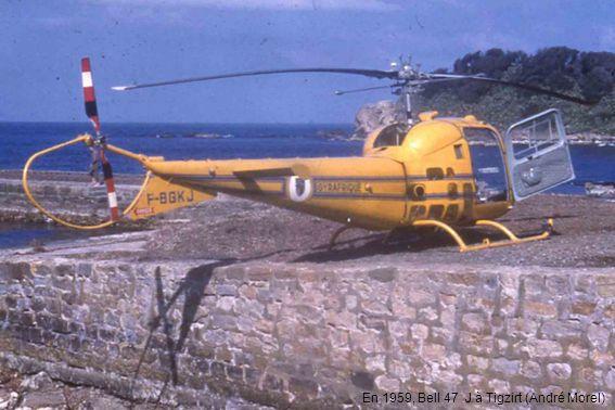 En 1959, Bell 47 J à Tigzirt (André Morel)