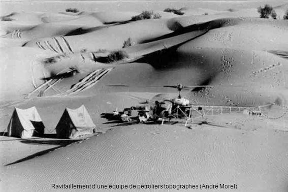 Ravitaillement dune équipe de pétroliers topographes (André Morel)