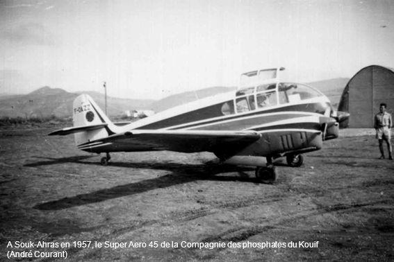 A Souk-Ahras en 1957, le Super Aero 45 de la Compagnie des phosphates du Kouif (André Courant)
