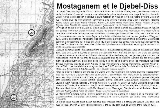 Mostaganem et le Djebel-Diss Le djebel Diss, montagne de 400 m daltitude à 10 km au nord de Mostaganem, est bien exposé aux vents dominants douest et