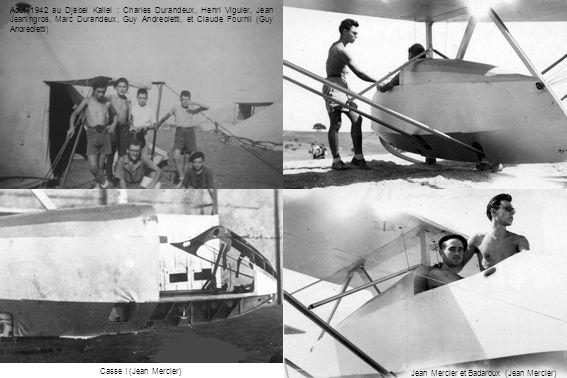 Août 1942 au Djebel Kallel : Charles Durandeux, Henri Viguier, Jean Jeaningros, Marc Durandeux, Guy Andreoletti, et Claude Fournil (Guy Andreoletti) J