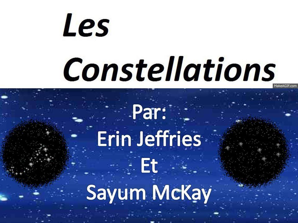 Une constellation est une ensemble de étoiles nommé parce que sont forme apparent ou après un Dieux.