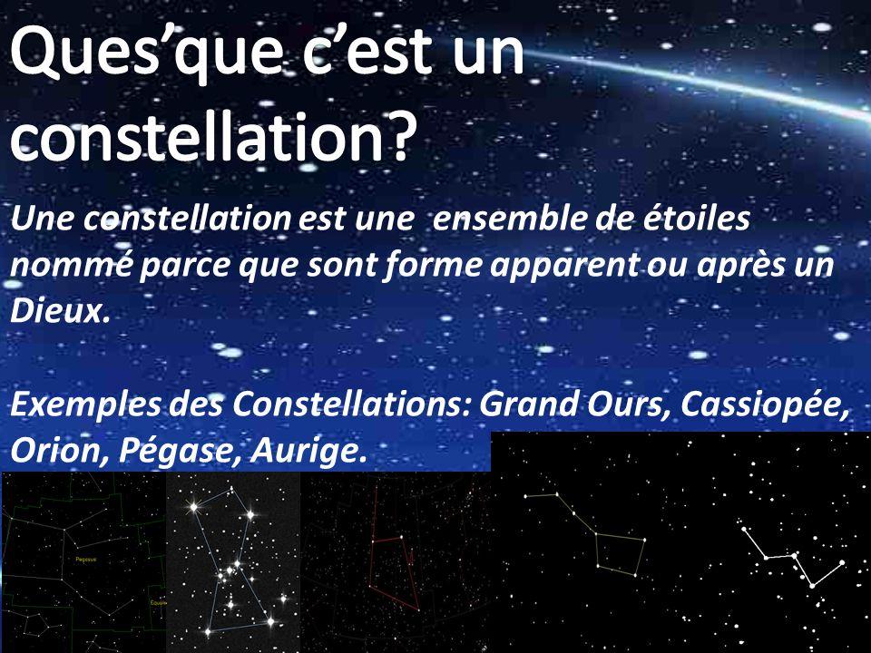 Cest important de savoir que les constellation ne bouge pas, mais parce-que la Terre bouge, ca regarde comme ils bougent.