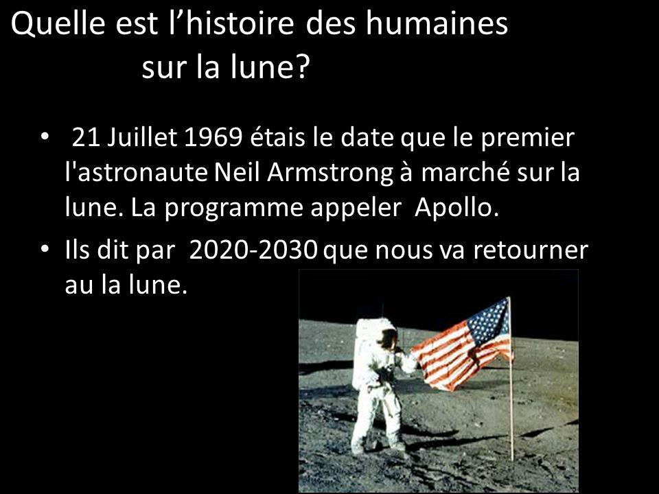 Quelle est lhistoire des humaines sur la lune.