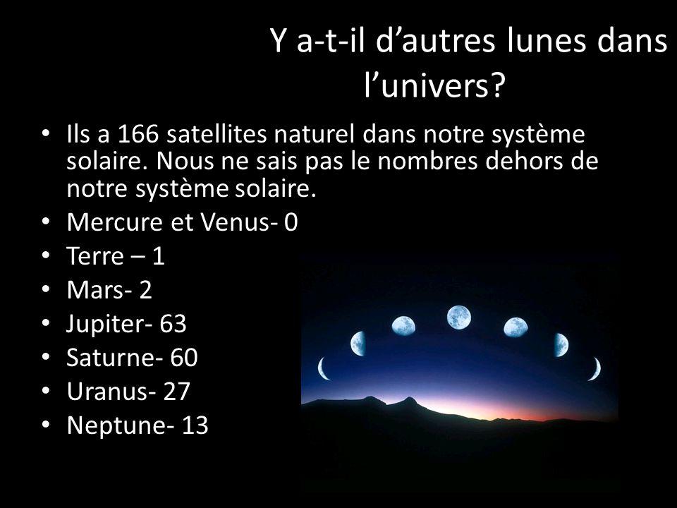 Y a-t-il dautres lunes dans lunivers.Ils a 166 satellites naturel dans notre système solaire.
