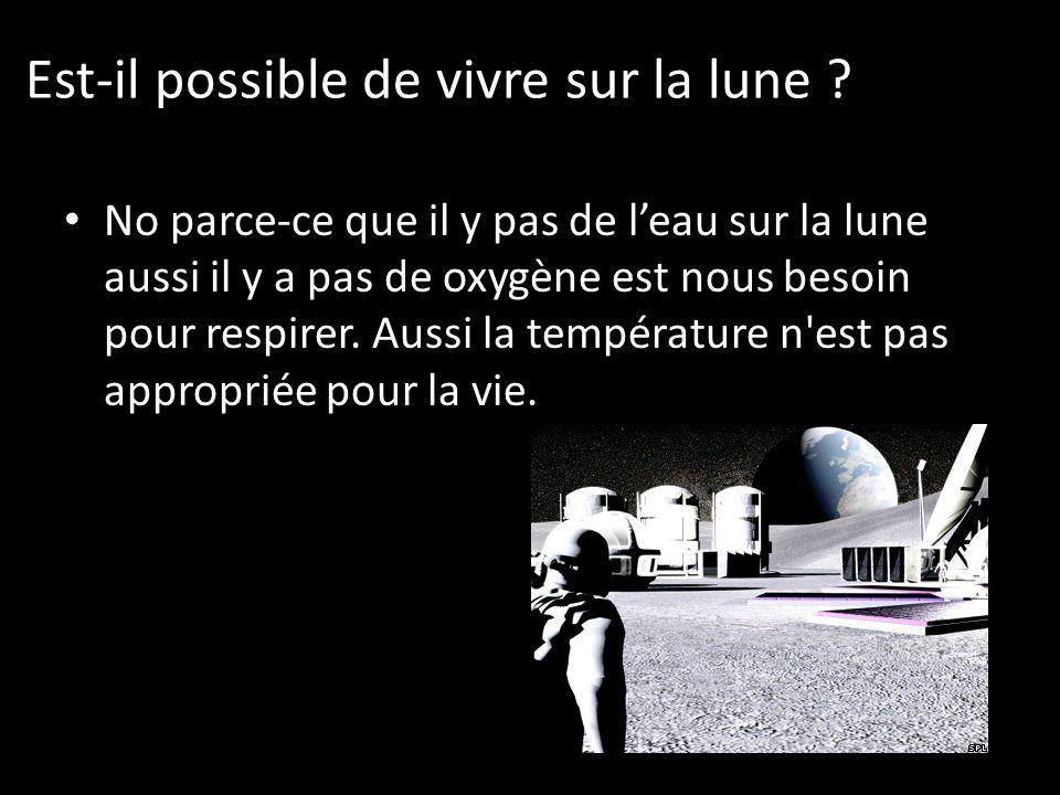 Est-il possible de vivre sur la lune .
