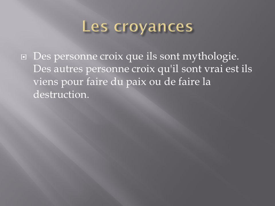 Des personne croix que ils sont mythologie.