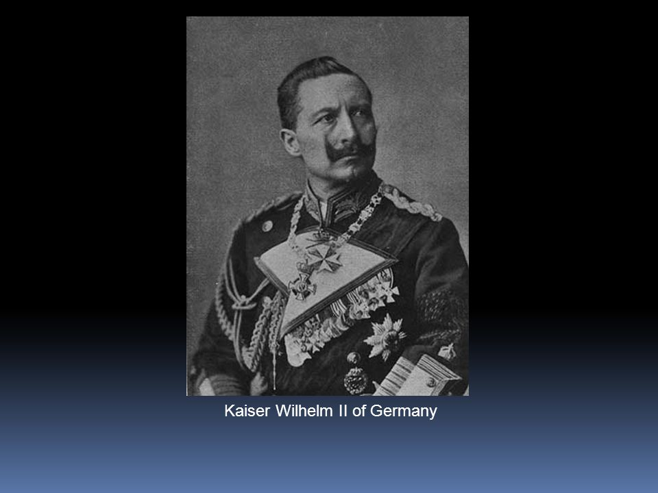 Kaiser Wilhelm II Chancelier dAllemagne (Président).